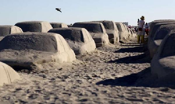 Пробка на пляже